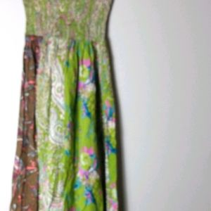 Pure Energy Lime Pink Tropical Maxi Dress  1X Plus